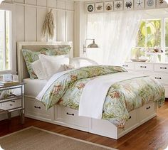 Storage bed and lots of other diy storage ideas on this site