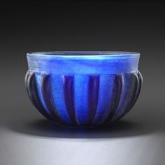 Roman ribbed bowl, 1st century A.D., 6.1 cm high. Private collection