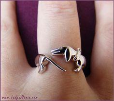 dachshund ring - I miss my doxie! Image Tumblr, Weenie Dogs, Doggies, Baby Dogs, Dachshund Love, Daschund, Dog Jewelry, Jewellery Rings, Dog Love