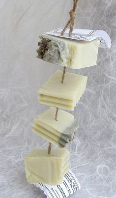 Lavender Castile Soap on a Rope  Natural Soap by BOYDsBARs on Etsy