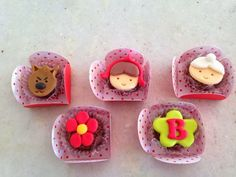 Chapeuzinho Vermelho Cupcakes, Cupcake Cookies, Cupcake Toppers, Chocolates, Little Red Ridding Hood, Fairy Cakes, Cake Boss, Fondant, Ale