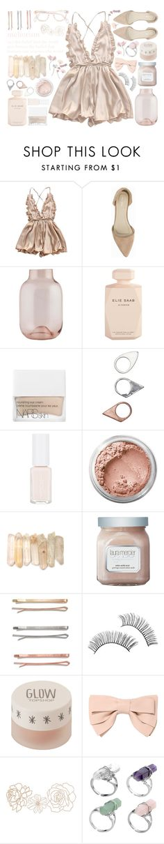 """""""meliorism"""" by hannah-gw-martin ❤ liked on Polyvore featuring Nly Shoes, House Doctor, Elie Saab, NARS Cosmetics, Monki, Bare Escentuals, Laura Mercier, Madewell, Topshop and RED Valentino"""