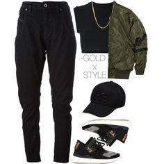 RACING. by goldxstyle on Polyvore featuring adidas Originals, Diesel Black Gold, Y-3, Stampd, women's clothing, women's fashion, women, female, woman and misses