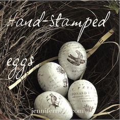 Jennifer Rizzo: Hand-stamped eggs.....