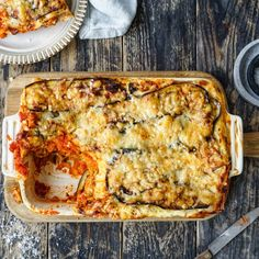 Lasagne med aubergine og ostesaus – Ourkitchenstories
