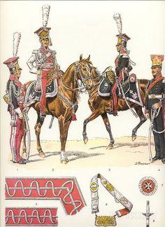 Ufficiali dei cavalleggeri lancieri polacchi del 1 reggimento della guardia imperiale, 1807 - 1814