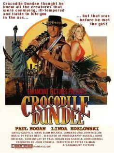 Crocodile Dundee original Australian New Zealand poster. 80s Movies, Action Movies, Great Movies, Movie Tv, Crocodile Dundee, Mini Poster, Movie Poster Art, Cinema Tv, Cinema Posters