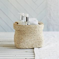 Square Jute Basket | The White Company