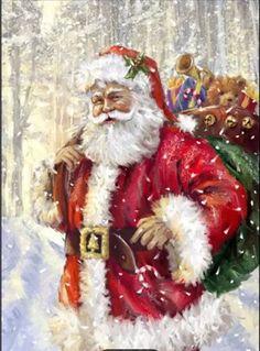 Christmas Scenes, Noel Christmas, Father Christmas, Vintage Christmas Cards, Christmas Pictures, Winter Christmas, Christmas Mantles, Victorian Christmas, Pink Christmas