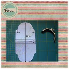 Patrón monedero de boquilla Monedero de boquilla Funda de gafas con boquilla metalica Neceser con boquilla metalica