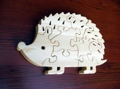 Hedgehog  8 pc  Childrens Wood Puzzle Game  New by GrampsWoodShop