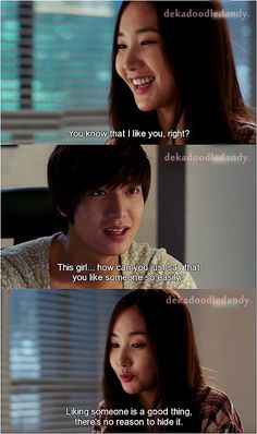 Liking someone is a good thing, there's no reason to hide it. (Kim Na Na, City Hunter)