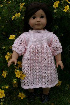 American Girl Lace Dress - Free Knit Pattern