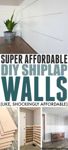 Adding shiplap to your walls gives your home an instant modern-farmhouse vibe and luckily there's a super affordable way to DIY shiplap in your own home that will fit into any home improvement budget! diy home improvement Affordable DIY Shiplap Walls