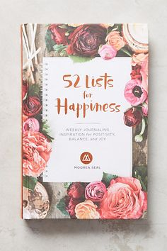 52 Lists for Happiness Journal #anthropologie