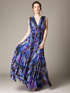 If only I were tall---Matthew Williamson Silk Chiffon Printed Maxi Dress