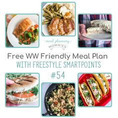Free WW (Weight Watchers) FreeStyle Friendly Meal Plan - 6 delcious dinner recipes from Meal Planning Mommies. Best Healthy Dinner Recipes, Healthy Freezer Meals, Freezer Cooking, Frugal Meals, Cooking Tips, Ww Recipes, Raw Food Recipes, Freezer Recipes, Drink Recipes