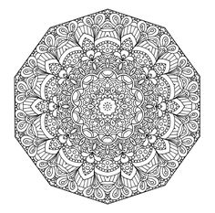 Detailed Coloring Pages for Teenagers | Detailed Abstract Coloring Pages For Teenagers Four more mandala ...