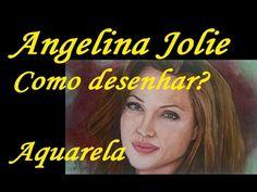 Tutorial - Como desenhar Angelina Jolie - Aquarela