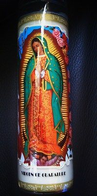 Our Lady of Guadalupe Candle for Adoption at www.backstagebargains.com
