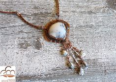 Dendritic Opal on Copper Necklace               by 100Pretentions