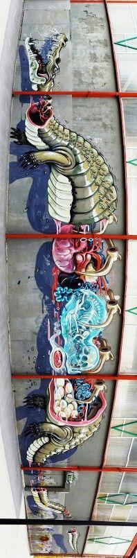 NYCHOS http://www.widewalls.ch/artist/nychos/ #graffiti #streetart #urbanart