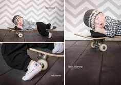 Baltimore newborn portraits by Leah Rhianne Photography #skateboard #baby