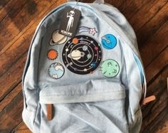 Tumblr 90s grunge denim backpack by Kokopiebrand on Etsy
