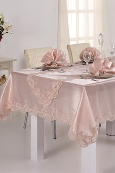 Masa Takımı Masa Takımı Mahidevran Pudra 2000000529134 PARİS SWEET HOME | Trendyol Diy Sofa Cover, Couch Cushion Covers, Sofa Covers, Mantel Redondo, Baby Girl Clipart, Embroidery Fashion, Table Toppers, Decoration Table, Table And Chairs