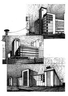 Bucharest Architecture on Behance Architecture Drawing Art, Architecture Sketchbook, Architecture Portfolio, Concept Architecture, Architecture Details, City Sketch, Building Sketch, Perspective Drawing, Environment Concept Art