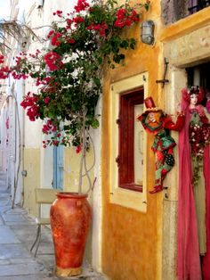 Santorini Greece, I Shop, Places, Painting, Lugares, Painting Art, Paintings, Drawings