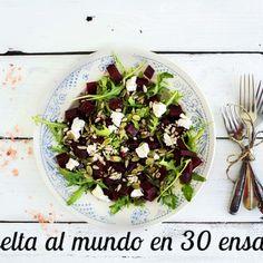 Son muchos los días en los que una ensalada es capaz de salvar nuestra comida al mediodía y también nuestra cena. Son frescas,saludables...