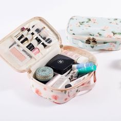 The Blossom Cosmetic Pouch is one of many adorable and functional products in the MochiThings collection. Makeup Storage, Makeup Organization, Travel Organization, Beauty Box, Cute Makeup Bags, What In My Bag, Skin Makeup, Makeup Brushes, Eyebrow Makeup