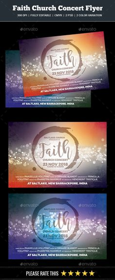 Faith Church Concert Flyer