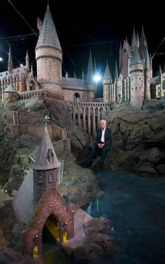 The Real Life Hogwarts Castle. The incredible, hand sculpted 1:24 scale construction took 86 artists and crew members to construct for the first film. It was then rebuilt and altered many times over for the next seven films. The model sits at nearly 50 feet in diameter, has over 2,500 fibre optic lights that simulate lanterns, and all the doors are hinged.
