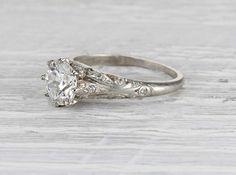 1.39 Carat Edwardian Engagement Ring …