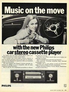 1969 Philips Car Stereo Cassette Ad