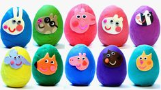 Peppa Pig Surprise Eggs Play Doh My Little Pony Littlest Pet Shop lps mlp Let's open some Peppa Pig Play Doh eggs with George Pig, Suzy Sheep, Rebecca Rabbit. Rock Painting Ideas Easy, Painting For Kids, Diy Painting, Art For Kids, Ghost Crafts, Spider Crafts, Easy Crafts, Halloween Crafts For Kids, Easter Crafts For Kids