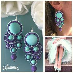 Veronique Creazioni Rope Jewelry, Jewelery, Handmade Necklaces, Handmade Jewelry, Soutache Tutorial, Soutache Necklace, Polymer Clay Charms, Handmade Felt, Button Crafts