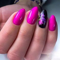 Pink Nail Art, Pink Nails, Stylish Nails, Trendy Nails, Hot Nails, Hair And Nails, Pretty Nail Art, Beautiful Nail Designs, Flower Nails