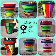 Resultado de imagen para macetas pintadas Paint Garden Pots, Painted Plant Pots, Painted Flower Pots, Garden Art, Flower Pot Art, Flower Pot Crafts, Clay Pot Crafts, Ceramic Pots, Terracotta Pots