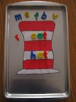 Cat in the Hat magnet board