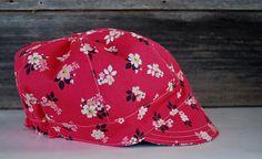 Jockey Cap reversible sun hat girl newsboy cap modern cap Girl With Hat, Boy Or Girl, Fabric Board, Cute Caps, Fabric Combinations, Newsboy Cap, Sun Hats, Fabric Design, Baseball Hats
