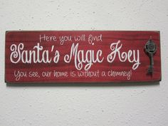 Santas Magic Key Sign by BornOnBonn on Etsy