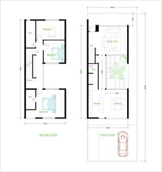 3 Bedroom House Plan - SamPhoas Plansearch - House Plans, Home Plan Designs, Floor Plans and Blueprints Narrow House Plans, House Floor Plans, Bedroom Layouts, House Layouts, Layout Design, Casa Patio, Compact House, Bedroom House Plans, Tiny House 3 Bedroom