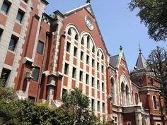 慶應義塾大学図書館(旧館) 田町から徒歩8分 勉強しに行こうかな 東京都港区三田2-15-45にある慶応義塾大学の3つある図書館のうちの一つ、旧館です!赤いレンガが美しい!