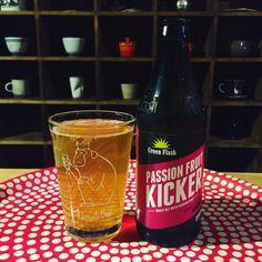 """Green Flash PASSION FRUIT KICKER 5.5% #greenflash #craftbeer #instabeer#IPA#IBU#passionfruit"" via udonsan on Instagram"