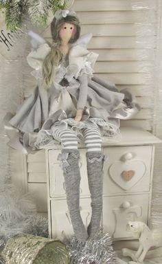 Engel Angel Puppe zu Winter Sterne stars Tilda Shabby Chic Winter Landhaus grau in Möbel & Wohnen, Dekoration, Sonstige | eBay!