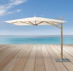 10' Tuuci® Ocean Master Max Cantilever Square Aluma-Teak™ Umbrella