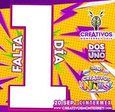 Sólo falta 1 día para #Creativos recuerda te esperamos este sábado 20-Sep en #CINTERMEX